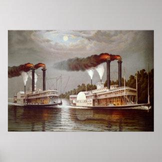 Århundrade för th för USA Steamerstävling 19 Poster