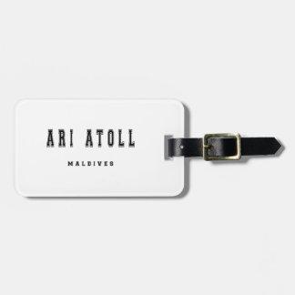 Ari Atoll Maldiverna Bagagebricka