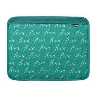 Aria - modern Calligraphynamndesign Sleeve För MacBook Air