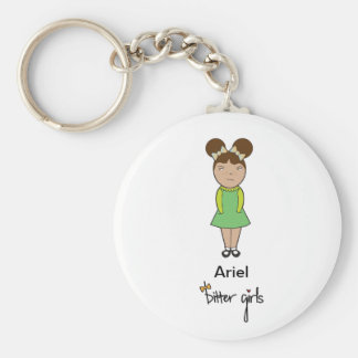 Ariel bitter flickanyckelring rund nyckelring