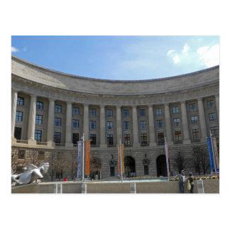 Ariel RIos som bygger federal triangelWashington Vykort