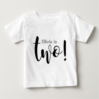 Årig flickaT-tröja för anpassade 2 T-shirts