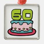 Årig tårta för födelsedag 60 julgransdekorationer