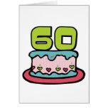 Årig tårta för födelsedag 60 kort
