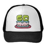Årig tårta för födelsedag 60 mesh kepsar