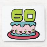 Årig tårta för födelsedag 60 mus matta