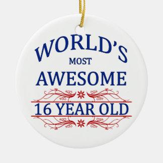 Åriga världs mest fantastisk 16 julgransprydnad keramik