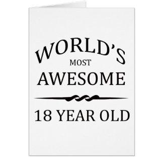 Åriga världs mest fantastisk 18 hälsningskort