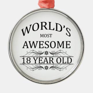 Åriga världs mest fantastisk 18 julgransprydnad metall