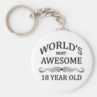 Åriga världs mest fantastisk 18 rund nyckelring