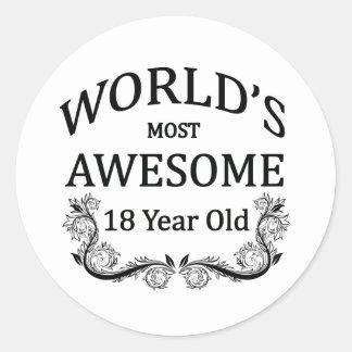 Åriga världs mest fantastisk 18 runt klistermärke