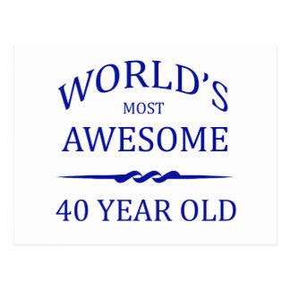 Åriga världs mest fantastisk 40 vykort