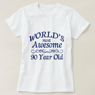 Åriga världs mest fantastisk 90 tee shirt