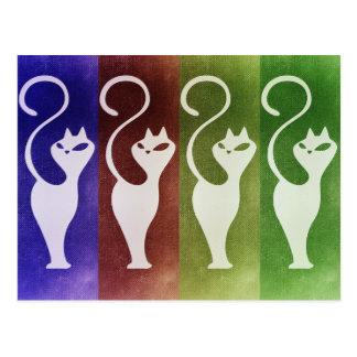 Aristocats vitSilhouette Vykort