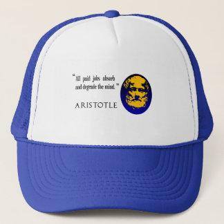 Aristotle betald jobb degraderar vara truckerkeps