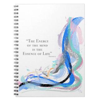 Aristotle - energi av vara besvärad anteckningsbok med spiral