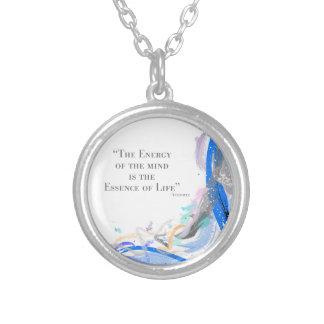 Aristotle - energi av vara besvärad silverpläterat halsband