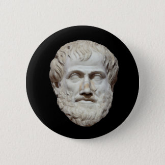 Aristotle huvudskulptur standard knapp rund 5.7 cm