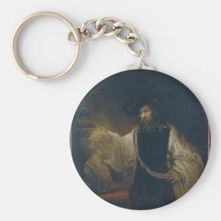 Aristotle med en byst av Homer av Rembrandt Rund Nyckelring