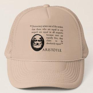 Aristotle på demokratilocket keps