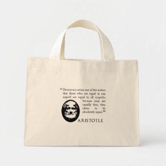 Aristotle på demokratishopping bag mini tygkasse