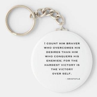 Aristotle - seger över själv rund nyckelring