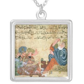 Aristotle undervisning silverpläterat halsband