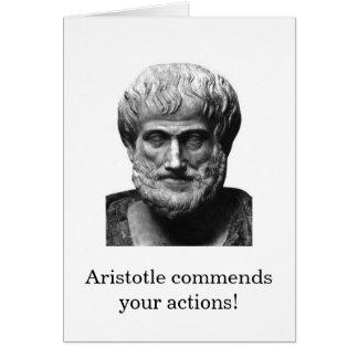 Aristotle uppmuntrankort OBS kort