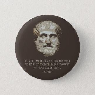 Aristotle utbildade varar besvärad standard knapp rund 5.7 cm