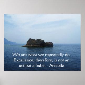 Aristotle utmärkthetQuotation Poster