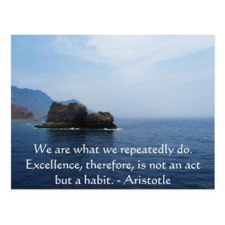 Aristotle utmärkthetQuotation Vykort