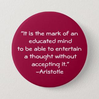 Aristotle-Vishet citationstecken Mellanstor Knapp Rund 7.6 Cm