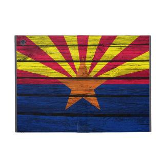 Arizona flagga som målas på lantligt trä iPad mini fodraler