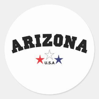 Arizona kvarter runt klistermärke