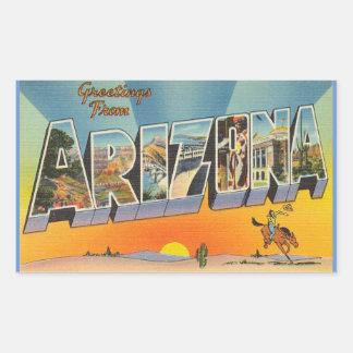 Arizona lakan av 4 Arizona klistermärkear Rektangulärt Klistermärke