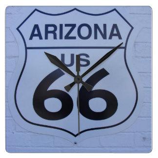 """Arizona rutt 66"", Fyrkantig Klocka"