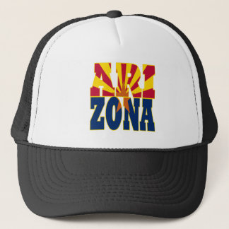 Arizona statlig flaggatext truckerkeps