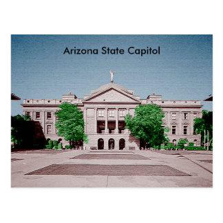 Arizona statlig huvudstad tonade Colorized Vykort