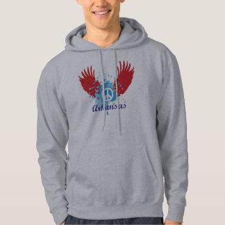Arkansas fredstecken sweatshirt med luva