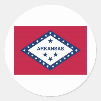 Arkansas statlig flagga runt klistermärke