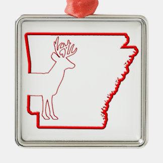 Arkansas Vit-Tailed hjort Julgransprydnad Metall