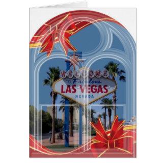 Ärke- fönsterLas Vegas julkort Hälsningskort