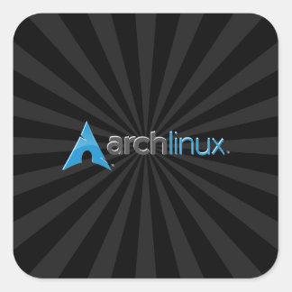 Ärke- Linuxsvartstarburst Fyrkantigt Klistermärke