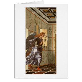 Ärkeängeln Gabriel, från den dipty annunciationen Hälsningskort