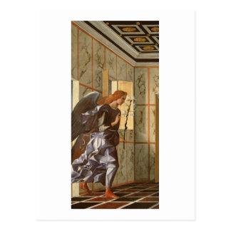 Ärkeängeln Gabriel, från den dipty annunciationen Vykort