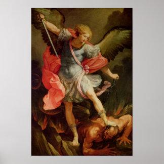 Ärkeängeln Michael som besegrar Satan Poster