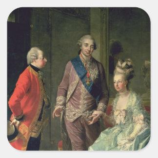 Ärkehertig Maximilian Franz som besöker Marie Fyrkantigt Klistermärke