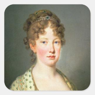 Ärkehertiginna Leopoldina av Österrike Fyrkantigt Klistermärke
