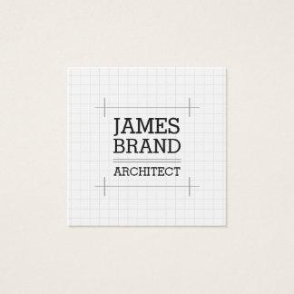 Arkitektbyggmästareingenjör Fyrkantigt Visitkort