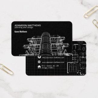 arkitektformgivare planerar visitkorten visitkort